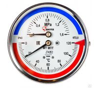 Термоманометр аксиальный 1/2 D80 t120 1.6Мпа