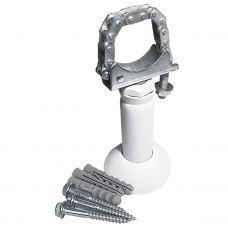 Кронштейн для радиатора напольный регулируемый телескопический белый (комплект: винт-3шт, дюбель-3шт)