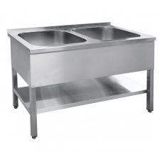 Ванна моечная 2-х секц. ВМП-7-2-5 РН (500х500х300)