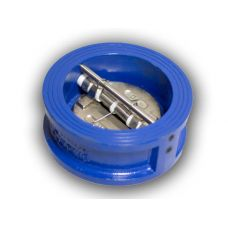 Клапан обратный Ду100 двухстворчатый межфланцевый
