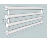 Регистр отопления РГП-108х3 из 4-х труб 2500мм