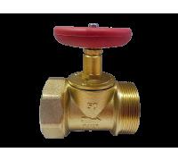 Клапан (вентиль) пожарный латунь КПЛМ Ду50 Ру16 прямой (муфта-цапка)