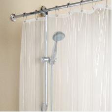 Штора для ванны с кольцами белая