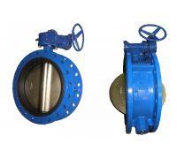 Затвор 300 тип 023F поворотный дисковый корпус чугун, диск чугун, с редуктором