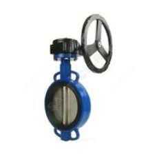Затвор 300 тип 017W поворотный дисковый корпус чугун, диск чугун, с редуктором
