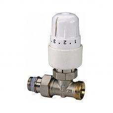 """Клапан ручной (с термоголовкой) для радиатора прямой 3/4"""""""